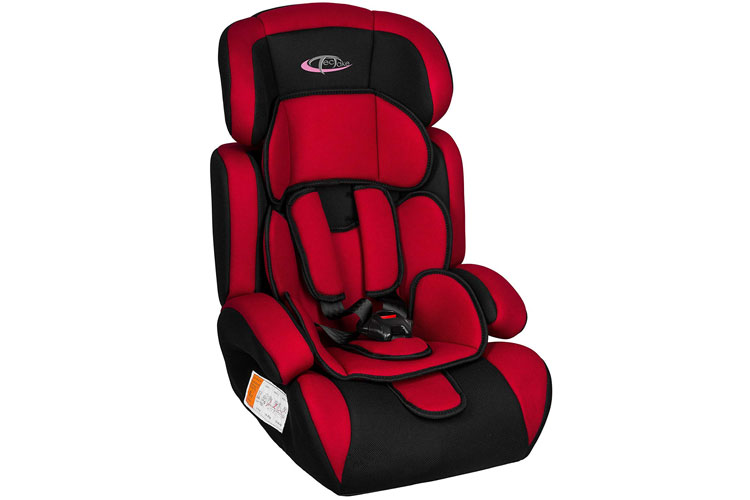 TecTake Rouge/noir siège auto