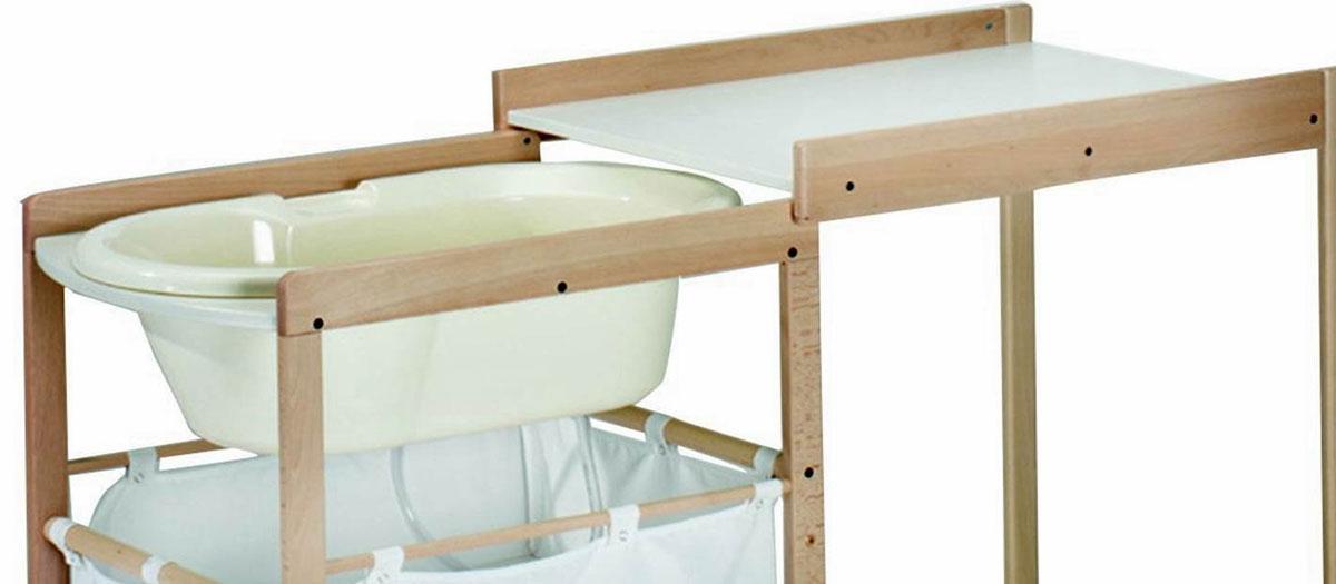 test table à langer avec baignoire