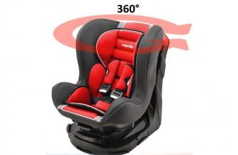 Mycarsit Carmin : un siège auto pivotant de qualité à moins de 100 €